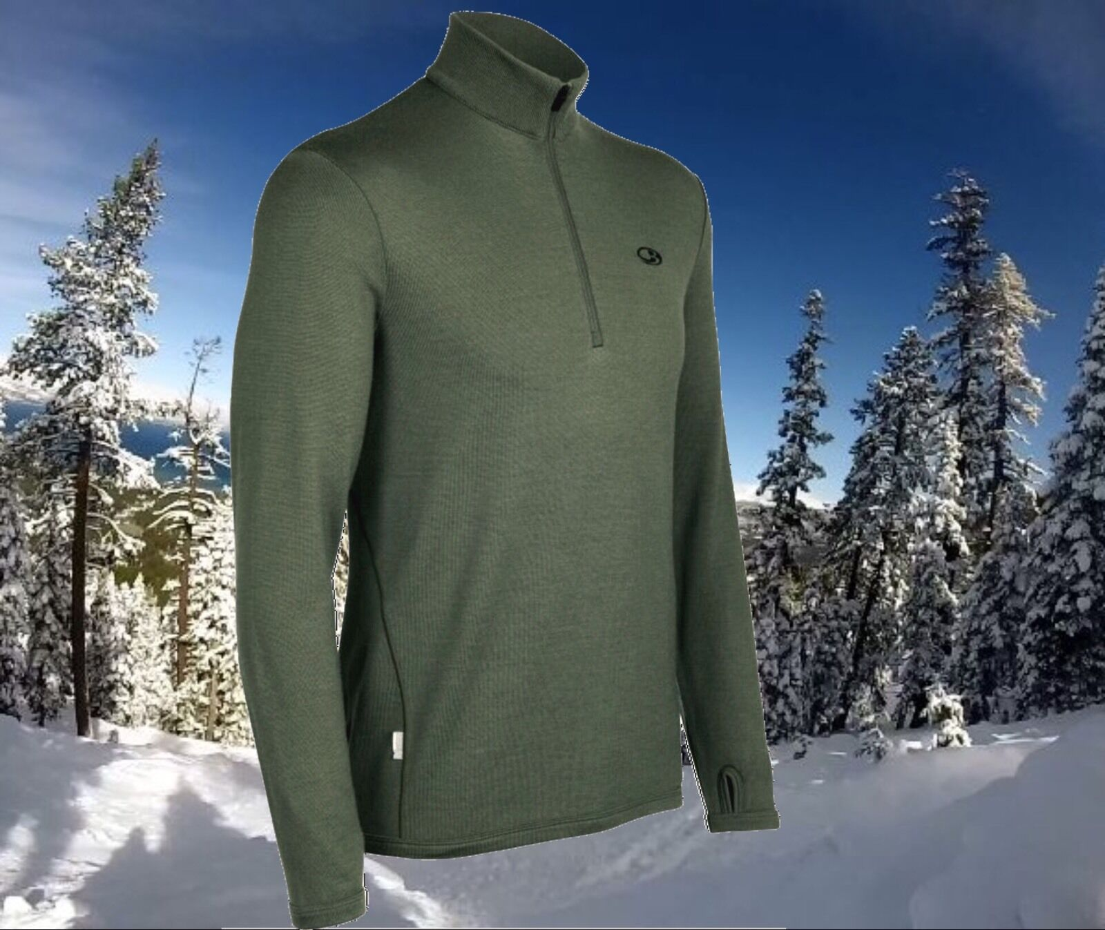 Icebreaker Original 320g Merino Wool ZIp Sports Top Sweater Mens XXXL Nwt  170