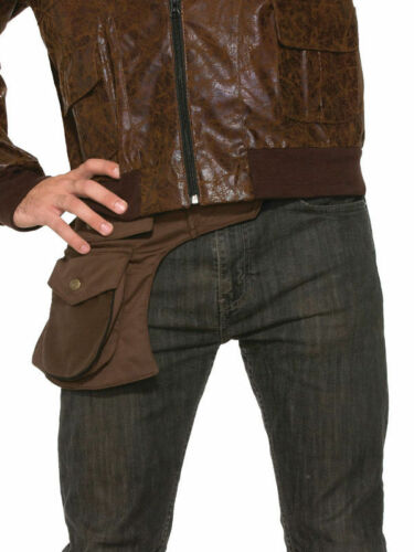 ADVENTURER HIP POUCH ALTERNATIVE #ACCESSORY BAG BROWN FANCY DRESS