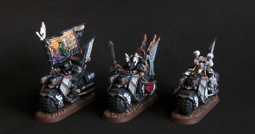 Warhammer 40k Ángeles oscuros Pro Pintado Ravenwing Caballeros Negros comando Miniatures