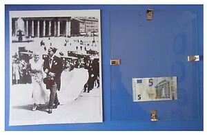 Edda-Mussolini-matrimonio-con-Galeazzo-Ciano-duce-fascismo-quadro-cornice-vetro