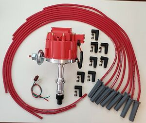 PONTIAC 350 389 400 455 RED HEI DISTRIBUTOR + 8.5mm UNIVERSAL SPARK PLUG  WIRES | eBayeBay