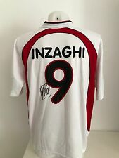 maglia calcio AC Milan 9 Inzaghi away autografata signs  shirt rare soccer