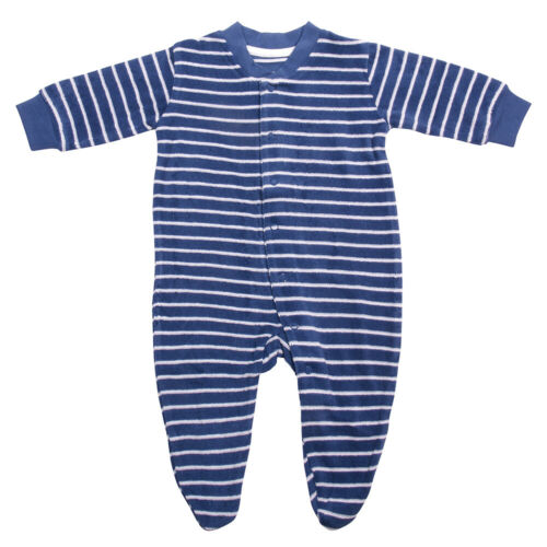 Living Crafts Baby//Kinder Frottee-Schlafanzug einteilig mit Fuß Bio-Baumwolle