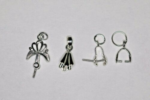 2 X 925 Sterling Silver PENDANT BAILS Various Designs Sizes For Different Beads