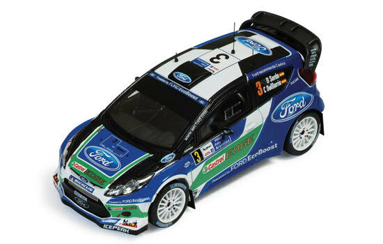 Ford Fiesta RS Wrc Retired silverina 2012 Sordo Sordo Sordo   Del Barrio 1 43 Model 25ec7b