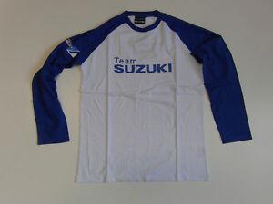 SUZUKI GSX R Racing Teambekleidung, Team T-Shirt Langarm Gr. s blau NEU!