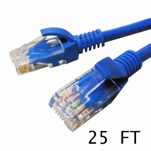 25Ft Bulk Lot 30//20//10//8//4Pack CAT5e Ethernet LAN Cable Network Patch RJ45Blue