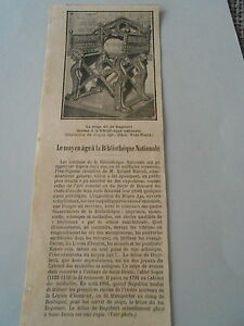 Le-Moyen-Age-a-la-Bibliotheque-Nationale-Siege-Dagobert-Article-Print-1928