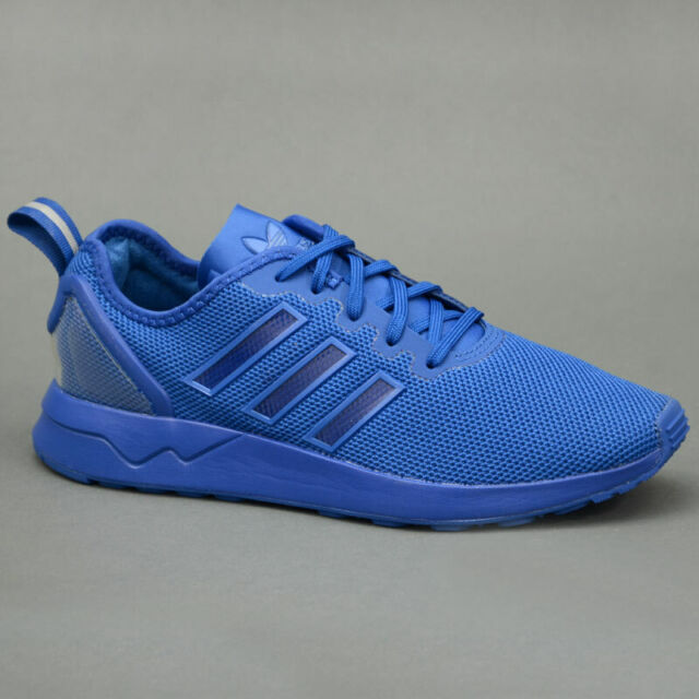 1ef6918fd65aa Mens adidas Originals ZX Flux Trainers in Blue From Get The Label UK ...