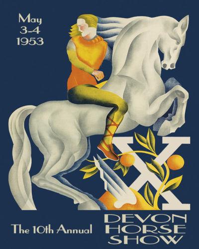 Horse Show European Devon Vintage Poster Repro FREE SH in USA