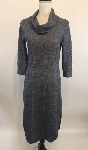Saturday Sunday XS Chemise Cowl Dress Blue Texture