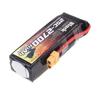 Black Magic 11.1V 2700mAh 25C 3S LiPo Battery XT60 Plug for DJI Phantom