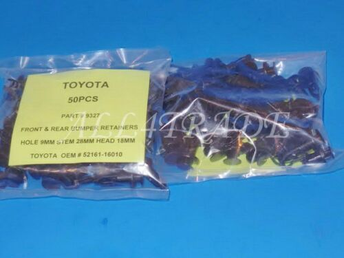 100 Kits 52161-16010 52161-02020 FIT:TOYOTA REAR BUMPER COVER RETAINER HOLE:9MM
