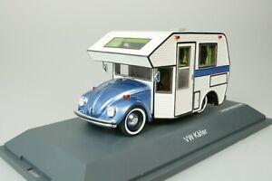 VW-VOLKSWAGEN-KAFER-WOHNWAGEN-CAMPER-MOTORHOME-1-43-SCHUCO-450889900-NEU-1-500