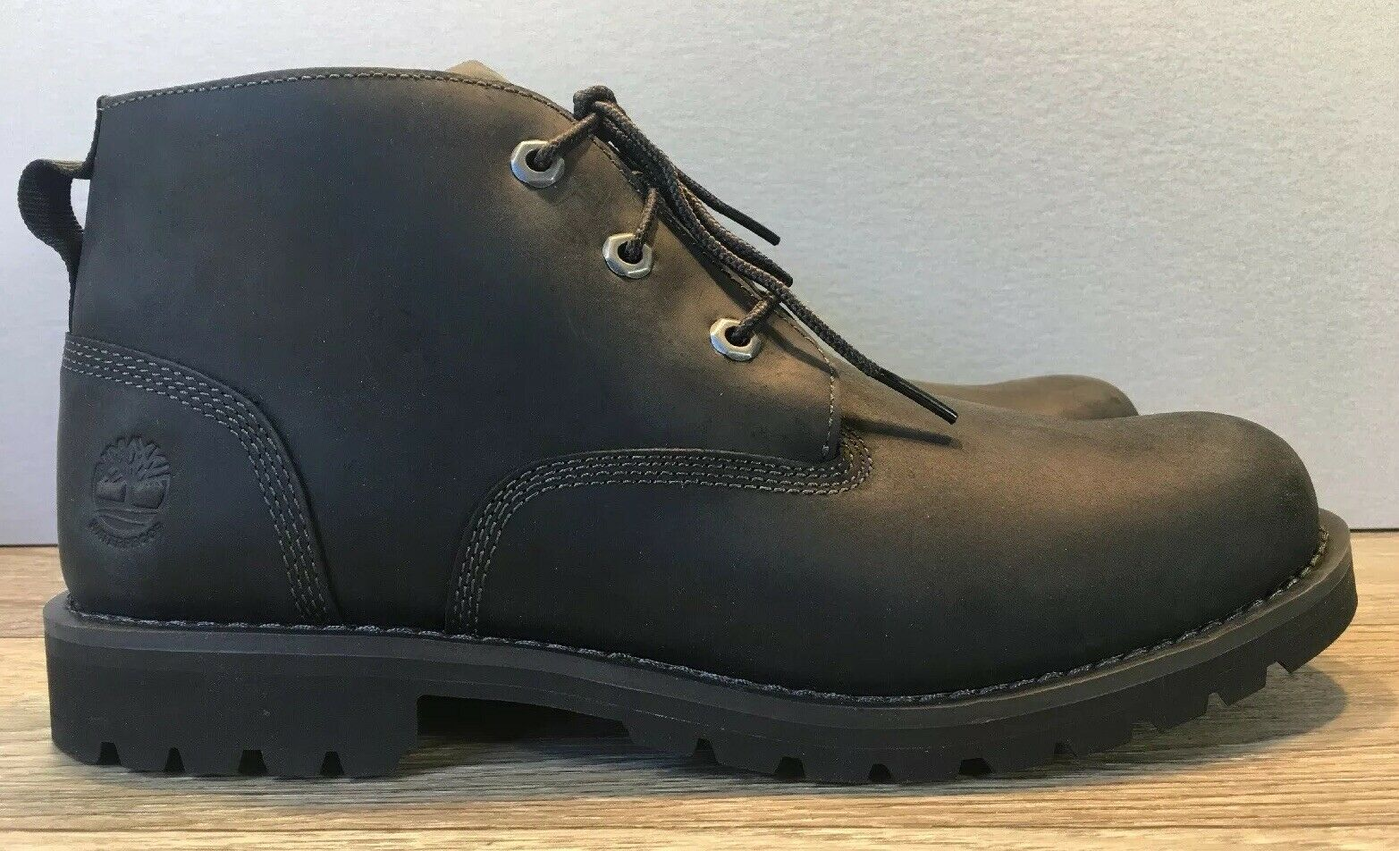 NEW Timberland Men's Larchmont Black Full Grain Leather Chukka Boots A11E1 SZ13