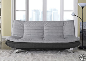 Image Is Loading Fabirc Sofabed 3 Seater Egg Grey Or Charcoal