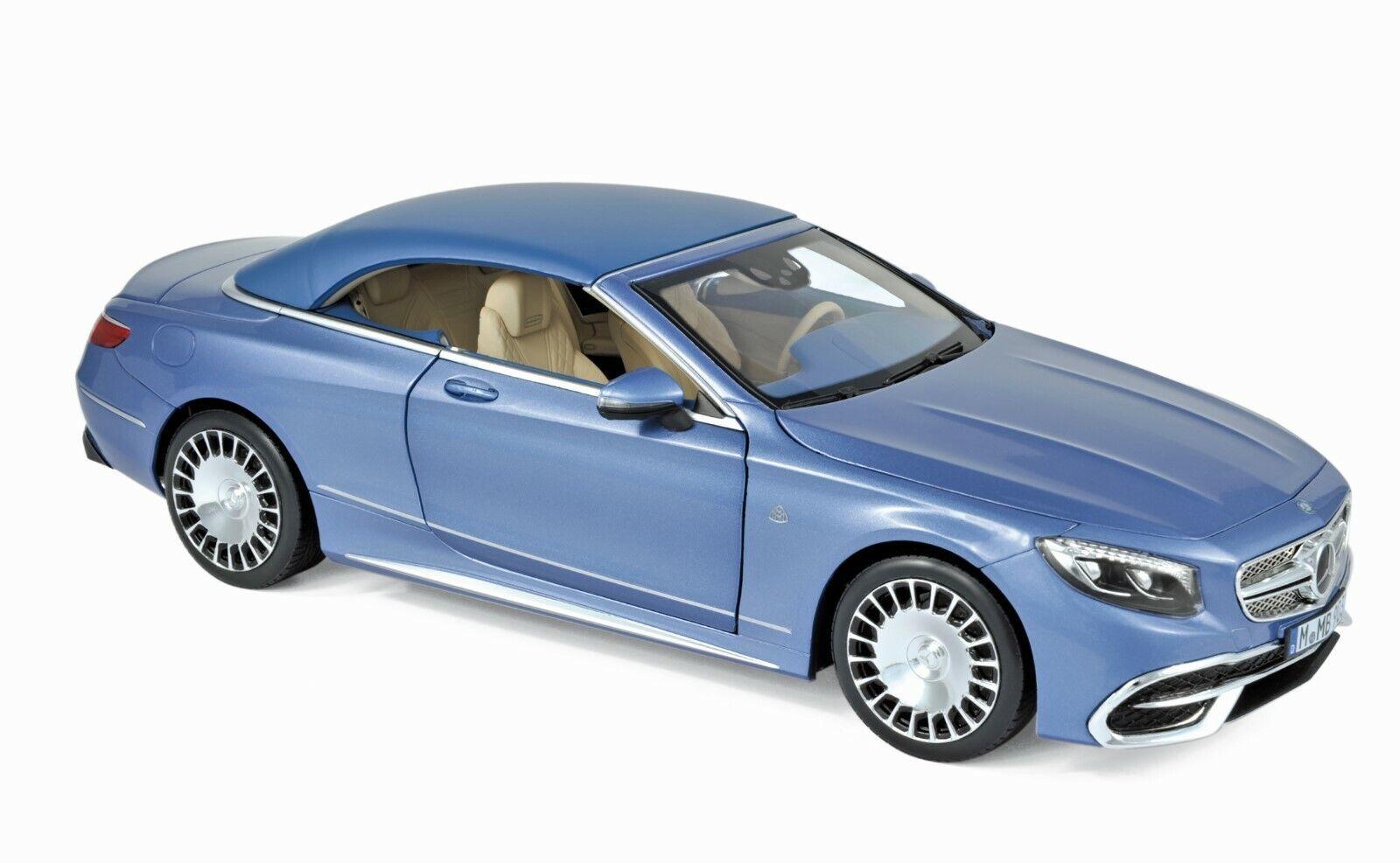 Mercedes-Maybach S 650 Cabriolet Bleu MET. 2018 1 18 Norev 183471 NOUVEAU & NEUF dans sa boîte