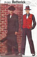 1940s Vintage Sewing Pattern C30-to-48 MEN'S SUIT COSTUME XS-S-M-L-XL (1017)