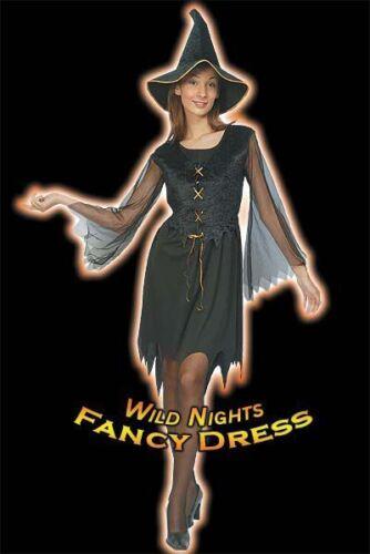 HALLOWEEN FANCY DRESS FUN GYPSY WITCH COSTUME 10-12//14