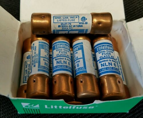 LITTLEFUSE NLN 6 250 VAC//VDC OR LESS *LOT OF 10*   *NEW*