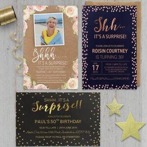 Surprise-18th-21st-30th-40th-50th-60th-Birthday-Invitations-Personalised-invites