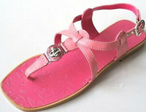 MARC-JACOBS-logo-women-TURNLOCK-pink-leather-Strap-thong-flats-shoes-sandals