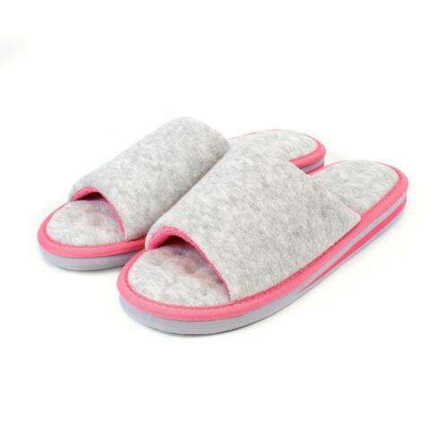 Isotoner Ladies Terry Open Toe Mule Slippers
