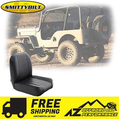 Smittybilt Low Back Front Seat Black Vinyl Fits Jeep CJ 1955-1976 S//B44801