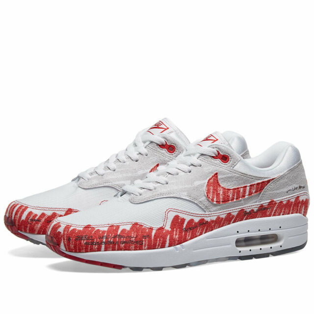 Nike Air Max 1 Sketch to Shelf Running Shoe, Size US 9 White