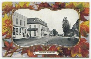 Elora-Street-CLIFFORD-Ontario-Canada-1906-Warwick-Bro-039-s-Patriotic-Postcard