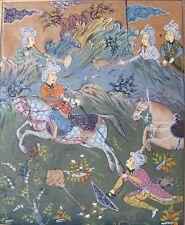 Jagdszene,Persische Miniaturmalerei,18.Jhd.
