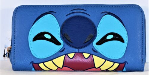 Disney Parks Exclusive Loungefly Stitch Multi Face Zip Around Wallet NEW CUTE