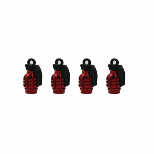 4PCS Grenade Air Port Cover Tire Rim Valve Wheel Stem Caps for Car Bike Truck