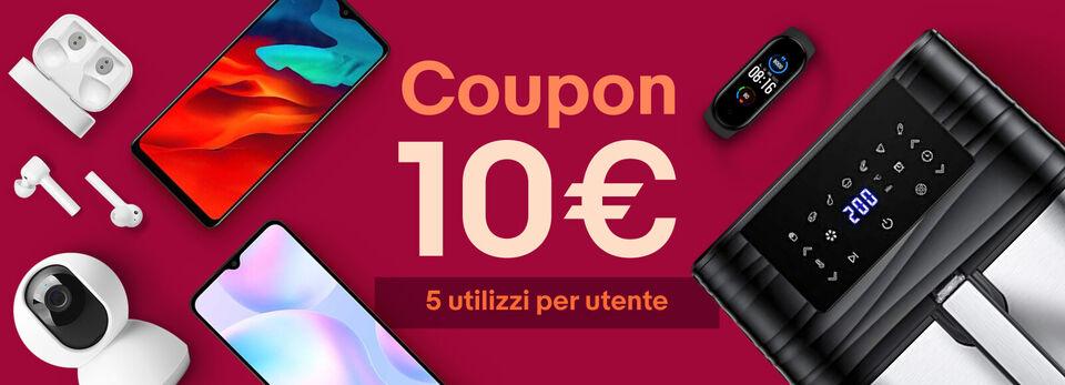 Scopri tutto - 10€ coupon per il tuo shopping!