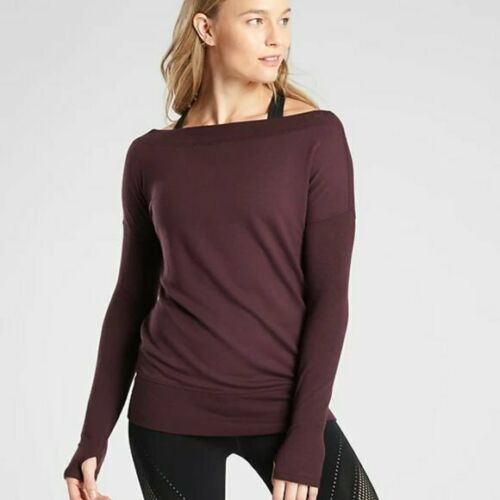 Athleta SMALL Burgundy Studio Barre Sweatshirt