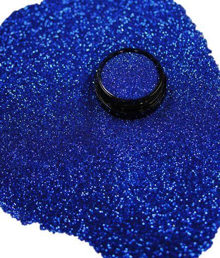 3ml Glitter 0,2mm, Royal Blau, Glitterstaub, Puder in Acryl Dose, Nr. 801-023-a