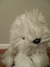 """Kamar Dorchester White Stuffed Dog 21"""" with Tags  Vintage"""