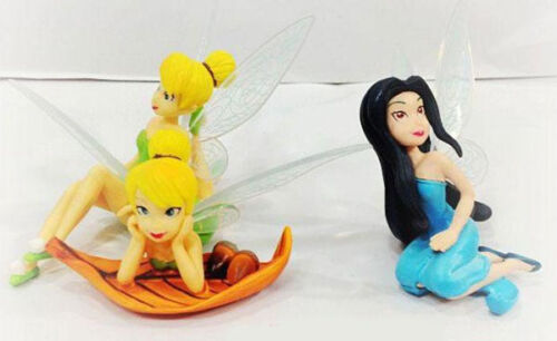 "Disney Tinker Bell Set Of 6 Large 4/"" Birthday Cake Topper Figurines Toy Set USA"