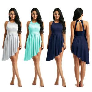 Adult-Women-Ballet-Dance-Dress-Gym-Leotard-Cutout-Back-Lyrical-Stage-Dancewear
