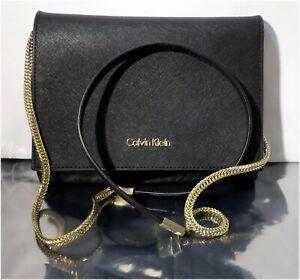 Calvin-Klein-Black-Fashion-Evening-Party-Cross-Body-Clutch-Purse-Bag