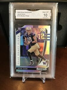 2020 Prizm Draft Picks JACOB EASON 115 RC Silver Prizm GMA 10 GEM MINT
