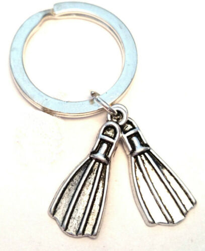 Diver Fin keyring Diving Diving Fin charms keychain Diving Jewelry Scuba Diving