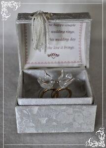 Details About Wedding Blessing Box Rings Doves Poem Keepsake Gift