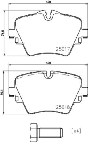 Brembo Disques De Frein Garnitures Avant ø307 pour BMW 2er Active Tourer 3874689
