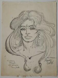 Red Sonja Sketch Original Art – Early Barry Windsor Smith (Barry Smith) – Rare!