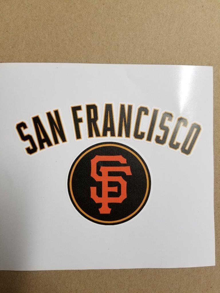 San  Francisco Giants cornhole board or vehicle decal(s)SFG2  discount store