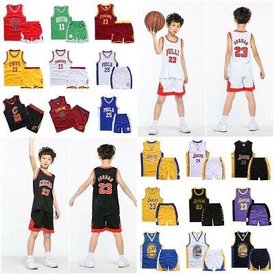 2pcs Kid Boy Girl 23 Basketball Jerseys Short Sleeveness Suit Kit Sportswear Set