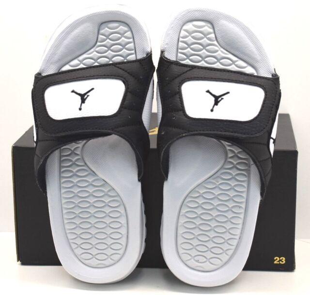 736907baeb87 Jordan Hydro XII Retro BG Black Black Pure Platinum US Size 6Y FREE  SHIPPING NEW