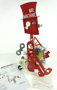 MINT-Mr-Machine-Wind-Up-Walking-Toy-Robot-Instruction-Metal-Key-Bell-Wrench-Box