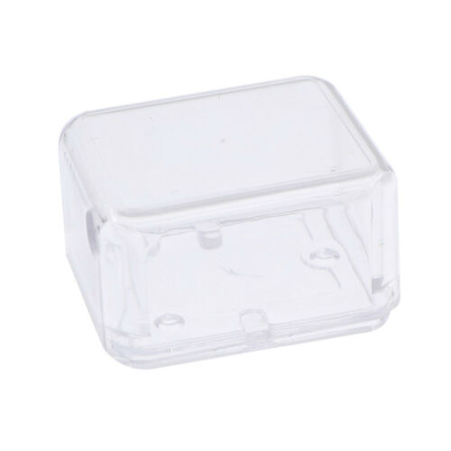 Transparent Rectangle Hand-cranked Movement Music Box Case Container Jewelry DIY